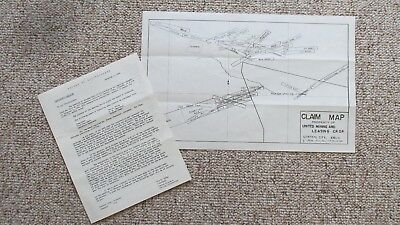 1954 Central City Colorado United Mining & Leasing Claim Map & Mine Report-