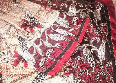 SILK BLEND Antique Vintage Sari Saree Fabric Material 4yd Z18 Black #,AONZ