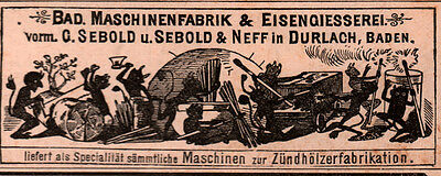 Ad Lot Of 5 1891 - 19 German Ads Devils Imps Matches Fireworks Catalog Cassgreen
