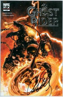 Ghost Rider #1 Df Dynamic Forces Signed Garth Ennis Coa Marvel Movie