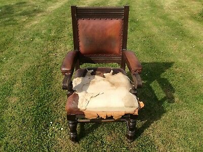 One 19Th Century Carver Dining Chair In Need Of Restoration, Chelmsford, Essex