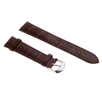 Unisex Genuine Leather Suede Nubuck Crocodile Grain High Quality Watch Strap
