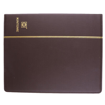 Paper Money Collection Leather Album Holder Coin Notes Storage Book -Brown