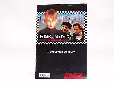 HOME ALONE 2 Manual only - no game SNES SUPER NINTENDO