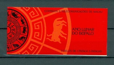 Macau 1985 Stamp Booklet Year Of The Buffalo Mnh Very Fine