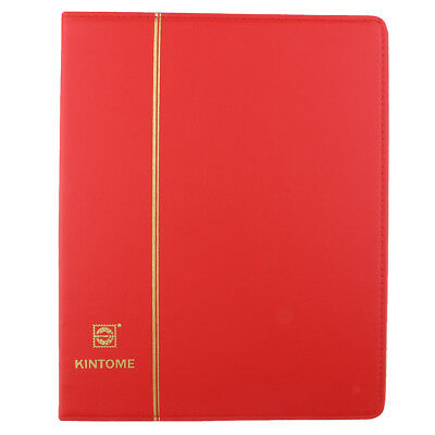 Paper Money Collection Leather Album Holders Coin Storage Book Gift -Red