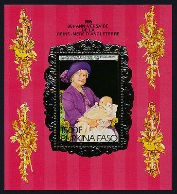 Burkina Faso 707A MNH Queen Mother 85th Birthday, Prince Harry
