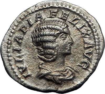 JULIA DOMNA 216AD Rome Authentic Ancient Silver Roman Coin VENUS i70201