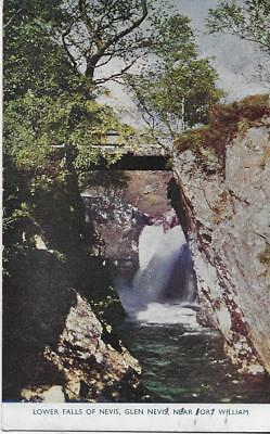Glen Nevis.Lower Falls of Nevis nr Fort William1954 Used P/C (Pub:W.Thomson)-VGC