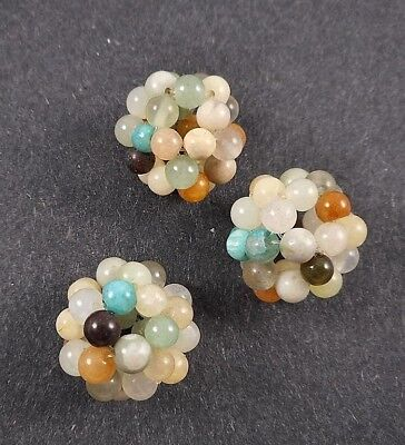 2pcs 20mm big Hand woven natural gemstone beads