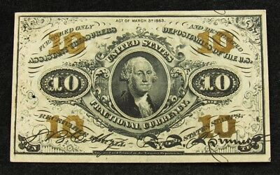 US 3rd Issue 10 Cents Fractional Currency -Crisp XF- FR# 1255 Colby/Spinner