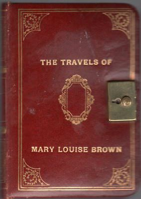 1956 Handwritten Trip Diary China India Egypt Hawaii Mary Louise Brown Detailed