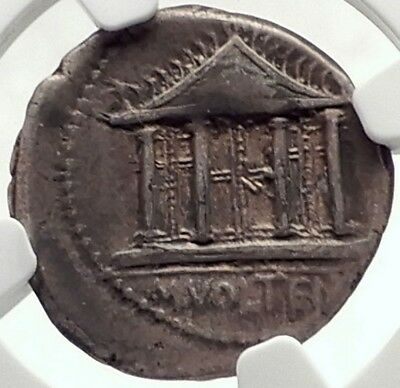 Roman Republic 78BC Silver Ancient Coin of Rome w JUPITER TEMPLE NGC CERT i70141