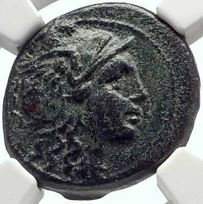 THESSALONICA In MACEDONIA Rare R1 Authentic Ancient Greek Coin w ROMA NGC i70145