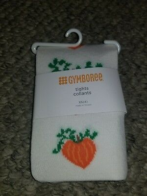 Nwt Gymboree Girls Pumpkin heart  Harvest Fall Thanksgiving halloween Tights 4