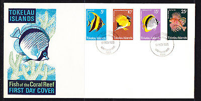 Tokelau 1975 Fish First Day Cover - Unaddressed