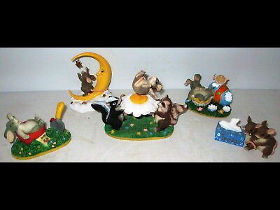 5 Spring/Easter/Summer Charming Tails Figures Figurines Fritz Floyd Mice/Rabbits