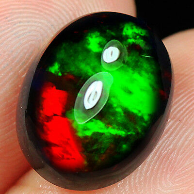 4CT Natural Ethiopian Black Opal Cab Play Of Color SHP6457