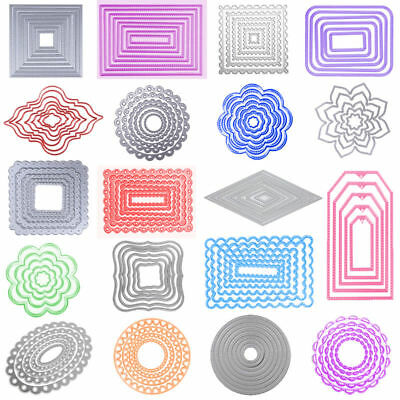 Lune Ring frame Cutting Dies Stencil Frame Scrapbooking Embossing Album Craft