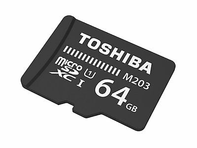 TOSHIBA M203 MICRO SD 64 GB CLASS 10 FLASH MEMORY CARD NEW st