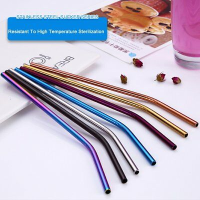 Easy To Clean Stainless Steel Straws Reusable Drinking Straw Metal Bent Straw GF