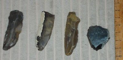 Mesolithic / Neolithic Flint Arrowheads (British R.thames)