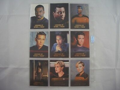 Legends of Star Trek La Forge, Wesley Crusher & Natasha Yar L1-L9 0640/1701