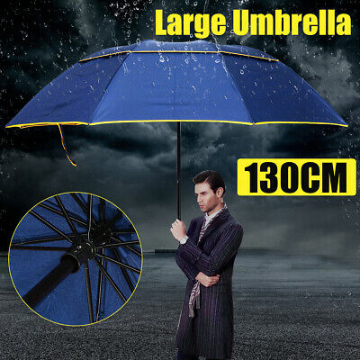130CM Men Women Large Folding Rain Umbrella Anti-UV Windproof Big Oversized New