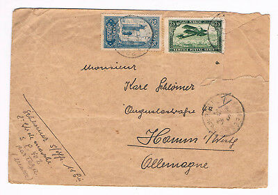 MAROC MOROCCO OLD COVER 1926 used to Germany Mixed Franking  (B9/22)