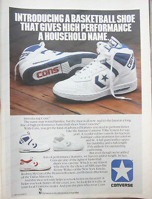 """Vintage 1986 CONVERSE DISCOVERY sneaker Print Ad - """"made possible by Converse"""""""