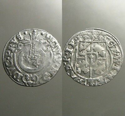 1626 GEORG WILHELM SILVER 3 POLKER____30 Year's War____KING OF POLAND & PRUSSIA