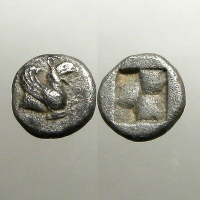 TEOS IONIA SILVER TRIHEMIOBOL___Battled the Persians___FOREPART OF GRIFFIN