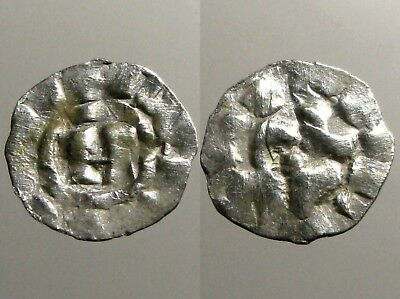 LUCCA ITALY SILVER DENIER___Henry III___VALUED MEDIEVAL COIN OF THE CRUSADES