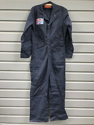 Vintage NOS Pepsi Soda Advertising Blue Shop Work Coveralls Size 34