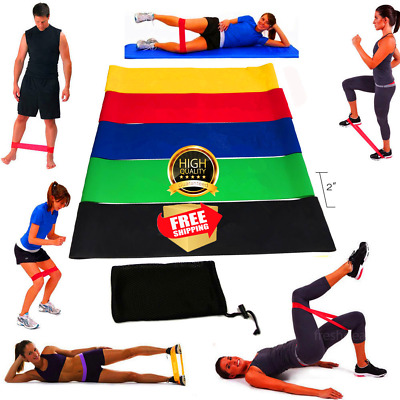 Resistance Exercise Heavy Duty Bands Tube Home Gym Natural Latex Fitness Premium