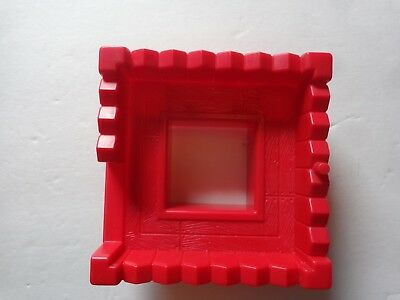 Lincoln Logs Replacement Part Green Fort Wall with Window M7326