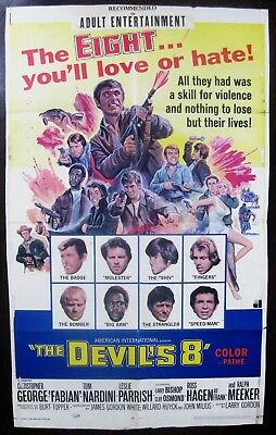 The Devil's Eight 1969 Christopher George Fabian Original US One Sheet Poster
