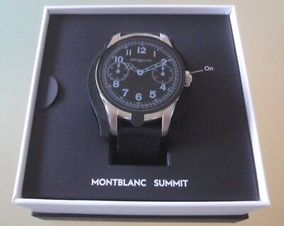 neue MONTBLANC Uhr SUMMIT SMARTWATCH Kautschukarmband TOP in Box Nr. 119019 46mm