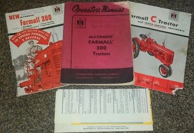 VTG International Harvester McCormick Farmall 300 Tractor Operator's Manual