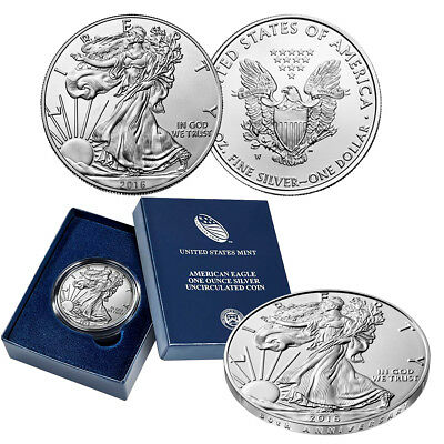 2016-W  Burnished American Silver Eagle One Ounce Uncirculated Coin