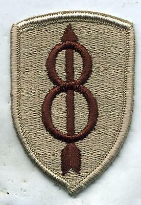 US Army 8th Infantry Division Patch DCU Desert Tan