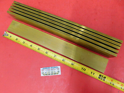 "6 Pieces 1/4"" x 1-1/2"" C360 BRASS FLAT BAR 12"" long Solid Mill Stock H02 .25"""