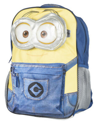 Despicable Me Minions Dave Backpack 3D Goggles Kids Movie Bag Nwt Animated
