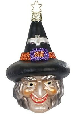 Inge-Glas Witch Casting Spells 10221S018 German Glass Halloween Ornament