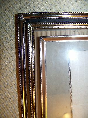 Vintage Gold Metal Embossed Photo Picture Frame 8x10 Wedding Deco