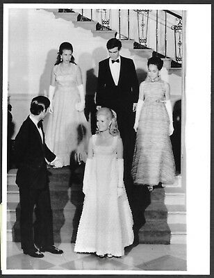 ~ Prince Charles at the White House Original 1970 Stamped Press Photo