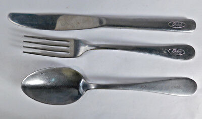 Ford & Ford Trade School Cafeteria Cutlery (Knife, Fork & Spoon )  [ Lot #b-12]
