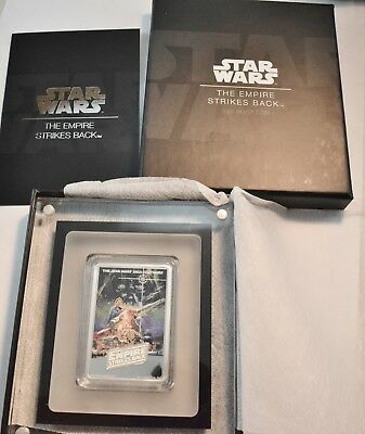 2017 $2 Niue PROOF Star Wars Empire Strikes Back 1oz Silver Coin OGP Coin Poster