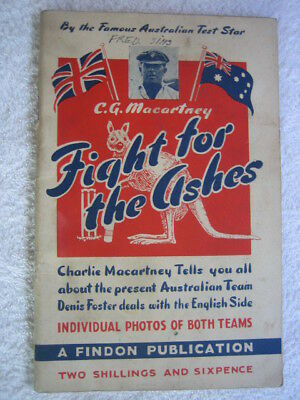 Fight For The Ashes Australia v England in UK Booklet by Macartney incl Bradman