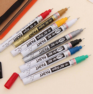 Thin Waterproof Permanent Oil Paint Marker Pen Car Tyre Tire Tread Rubber Metal